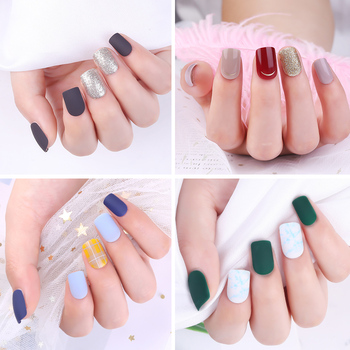30pcs detachable False Nail Artificial Tips Set Full Cover for Short Decoration Press On Nails Art Fake Extension Tips With Glue