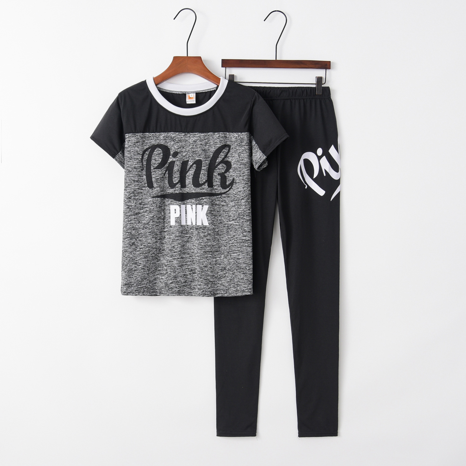 Printed Pink 2020 New Design Fashion Hot Sale Suit Set Women Tracksuit Two-piece Style Outfit Sweatshirt Sport Wear