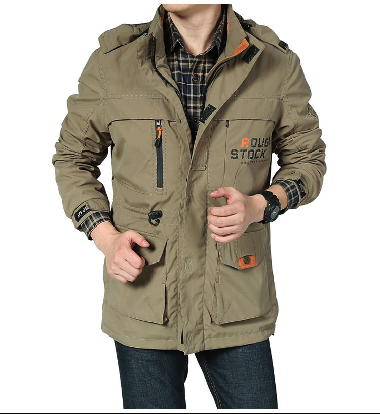 NEW 2020 Style Mens Green Military Jacket Spring Autumn Cargo Casual Army Clothes Brand Outdoor Sport Windproof Waterproof title=