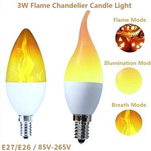 3 4 режима 3 Вт, 5 Вт, 7 Вт, 9 Вт, E27 E26 E14 E12 пламени лампы 85-265V Светодиодный эффект пламени огня светильник лампочки мерцающие Декор светодиодный п...