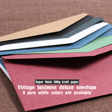 5pcs/lot Vintage Kraft Paper Envelopes Red Black European Style Envelope For Business Card Invitation