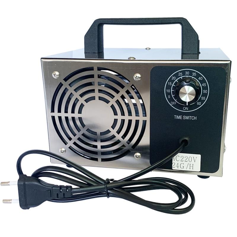 220V 28g 24g/h 10g/h Odor Free O3 Ozone Generator Ozonator Machine Air Purifier Air Cleaner Deodorizer Sanitizer Timing Switch