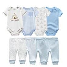 Bodysuits-Set Clothing-Set Baby Pants Short-Sleeve Girl Infant Ropa-Bebe Newborn Unisex