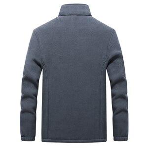 Image 3 - Vestes en molleton polaire pour hommes, nouveau col montant dhiver, manteau chaud épais, grande taille 6XL 7XL 8XL 9XL, collection 2019