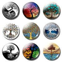 Baum des Lebens Kühlschrank Magnet Leben Baum Kunst Aufkleber 30MM Glas Cabochon Kühlschrank Magneten Kühlschrank Aufkleber Hause Dekoration