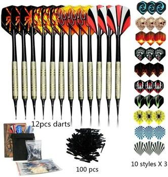 100 sztuk zestaw strzałek wiele stylów rzutki loty profesjonalne rzutki miękkie tworzywo sztuczne zestaw tipsów do elektronicznych akcesoriów do rzutek tanie i dobre opinie CN (pochodzenie) 8 lat