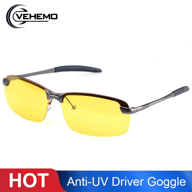Car Night Vision Driver Goggles Unisex HD Vision Sun Glasses Car Driving Glasses UV Protection Polarized Sunglasses Eyewear