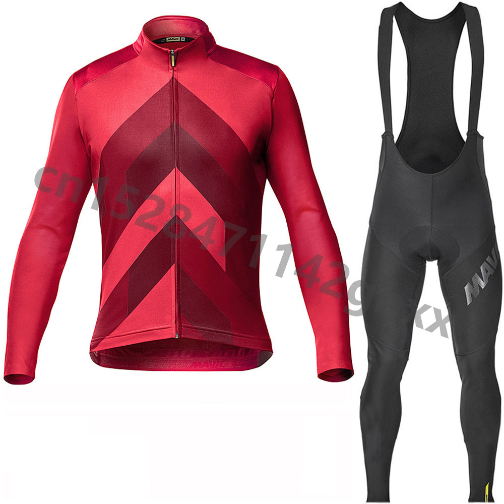 2019 MAVIC pro team Cycling Jersey 9D bike bib pants set Ropa Ciclismo Men's Spring Long Sleeve Cycling Clothing Maillot Culotte