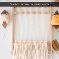 Wooden Sewing Machine Weaving Loom Handmade Woven Wooden Loom DIY Wool Hook Looms Tapestry Weaver Sewing Accessories