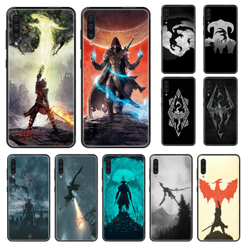 The Elder Scrolls Phone case For Samsung Galaxy A 3 5 8 9 10 20 30 40 50 70 E S Plus 2016 2017 2018 2019 black silicone funda image