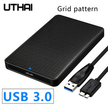 Uthai G10 Usb 3.0 Mobiele Harde Schijf Doos 2.5 Inch Sata Harde Schijf Box Ssd Sliding Cover Grid Textuur Mobiele externe Hdd Behuizing