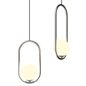 Image 5 - נורדי זכוכית כדור תליון אורות מודרני Industriel מנורת תליית מנורה זוהר יוקרה Glod אמנות מטבח מלון חישוק דקו תליון מנורה