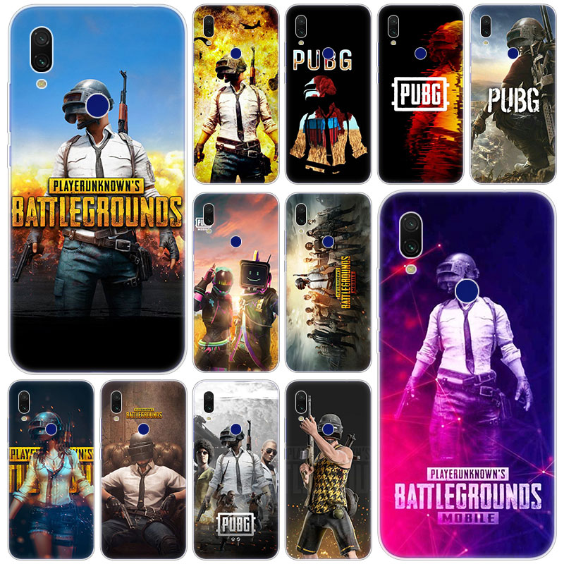 Hot PUBG Game Soft Silicone Case for Xiaomi Redmi K20 Pro 8 8A 7 7A 6 6A 5 Plus S2 Note 8 7 6 5 Pro 4 4X Fashion Cover image