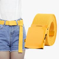 New Unisex Automatic Fashion Nylon Belt Buckle Classic Popular Casual Light Practical Woven Young students smooth canvas belt