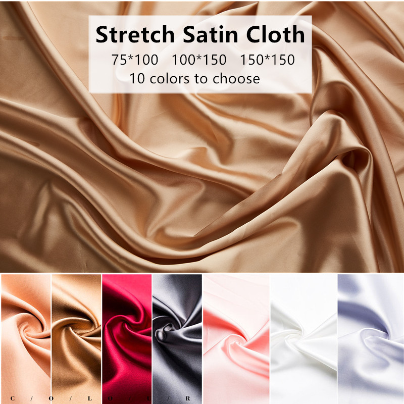Photo studio props photography background cloth spinning silk satin photo backdrop Pure solid color silk cloth accessories