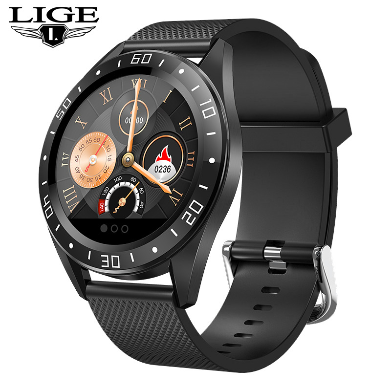 LIGE Mode Sport männer smart <font><b>watch</b></font> <font><b>IP68</b></font> wasserdicht Für IOS Android telefon smartwatch Herz Rate Monitor Blutdruck Funktionen image