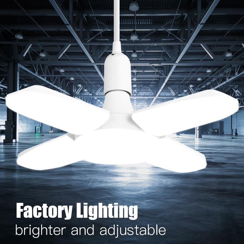 Led Garage Light 165-265V LED Fan Workshop Lamp E27 Light Bulb Industrial Lighting Lamps For Garage Warehouse Factory Lights