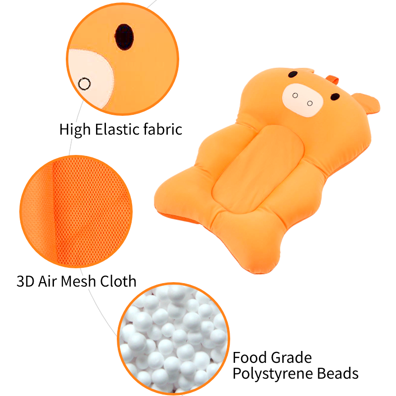 Floating Baby Bather and Non Slip Baby Bath Pad with Soft Air Cushion as Shower Bed for Infant 1