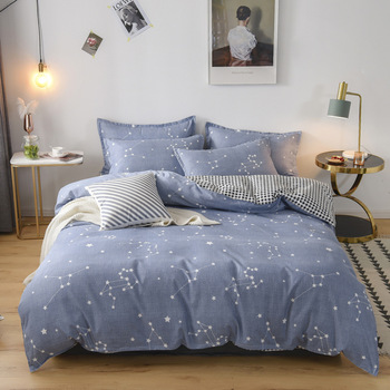 Classic Bedding Set Luxury Bed Sheet Quilt Cover Pillowcase Family Set Comfortable and Breathable Queen Comforter Sets King Size