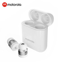Asli Motorola V110 Nirkabel Bluetooth 5.0 Earphone 12 Jam Waktu Bermain Kontrol Sentuh Built-In MIC Earbud Voice Assistant baru(China)