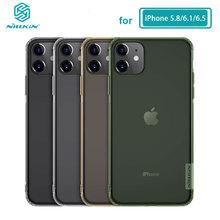 Miękki futerał na iPhone 11 Pro Max 5 8 6 1 6 5 Nillkin Nature przezroczysty miękki silikonowy pokrowiec TPU na iPhone 11 tanie tanio CN (pochodzenie) Pół-owinięte Przypadku Apple iphone ów IPhone11 IPhone12 IPhone12 Pro IPhone12 mini IPhone12 Pro Max