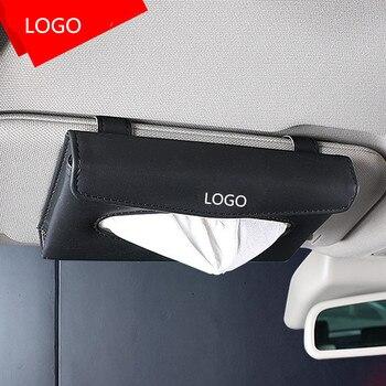 חדש רכב תיבת רקמות מכונית באיכות PU שמשיה סוג תליון פנים רקמות תיבת עבור Jeep לוגו Renegade רנגלר jk גרנד צ 'ירוקי