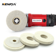 10pc 4 Polishing Wheel Wool Polishing Pad Wool Felt Round Grinding Wheel Angle Grinder Buffing Paint Care Rotary Abrasive Tool