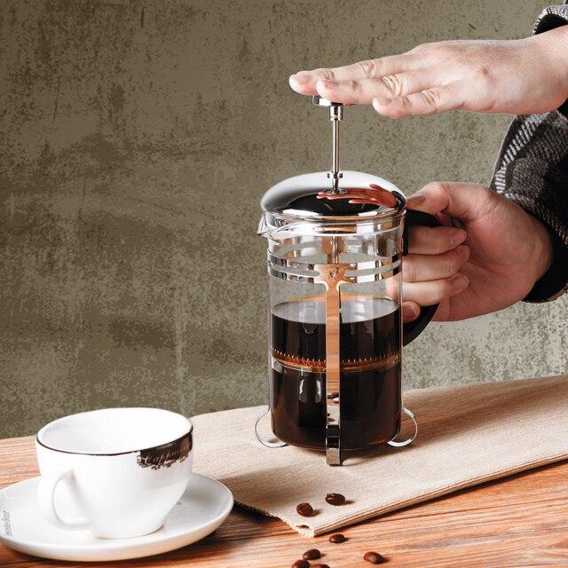 350/600/1000ml Coffee Tea Pot Manual French Presses Pot Coffee Maker Filter Pot Cafetera Expreso Percolator Tool Tea Filter Cup 5