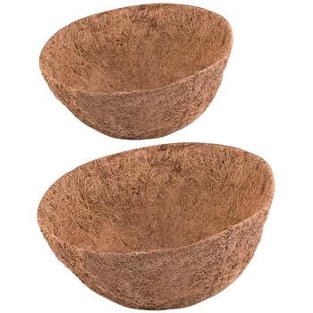 14 Cal wkład kokosowy do doniczek 2 szt Okrągły wkład do koszyka na rośliny naturalny wkład z włókna kokosowego na wiszący kosz tanie i dobre opinie CN (pochodzenie)
