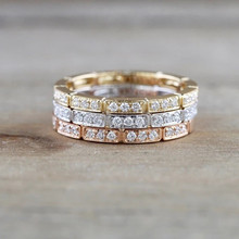 Luxury Zircon CZ Rings For Women Jewelry Shiny Stone Female Rose Gold Finger Ring For Girls Bride Wedding Accessories Lady Gold