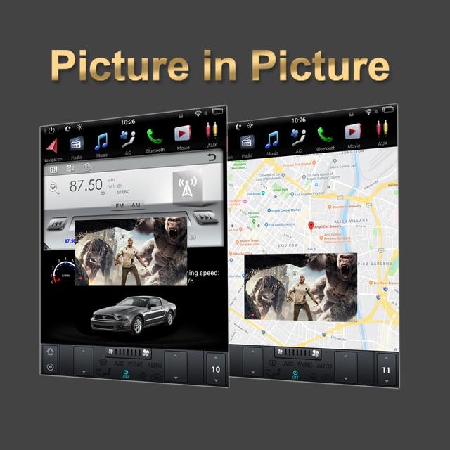 Navegação vertical audio do carro de tesla android 9.0 da tela do carro gps para toyota land cruiser lc200 2008-2015 reprodutor multimídia do carro bt
