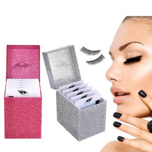 5 schichten Wimpern Lagerung Box Make-Up-Display Container Wimpern Halter Fall