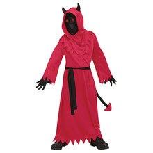 Chłopcy znikają w diabelskim kostiumie dzieci przebranie na imprezę halloweenową