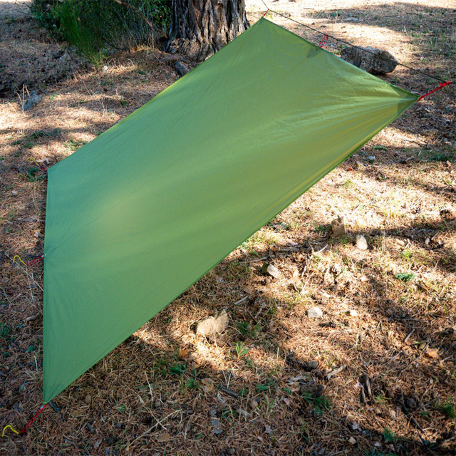FLAME'S CREED Ultralight Tarp Lightweight MINI Sun Shelter Camping Mat Tent Footprint 15D Nylon Silicone 160g Tenda Para Carro 4