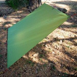 Image 4 - FLAMES CREED Ultralight Tarp Lightweight MINI Sun Shelter Camping Mat Tent Footprint 15D Nylon Silicone 160g Tenda Para Carro