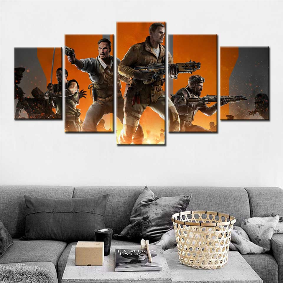 Zombies 10 Years Call of Duty Black Ops 4 Hot Art Poster Canvas deocr 24x36inch
