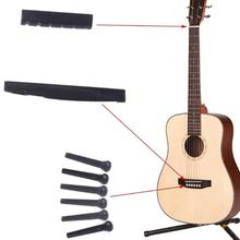 Portable Acoustic Guitar String Bridge Pins Saddle Nut Finish Guitar Quality Plastic Acoustic Guitar Accessories 6 pieces lot guitar strings nail metal acoustic guitar bridge pins brass guitar strings fixed cone string pins string nails