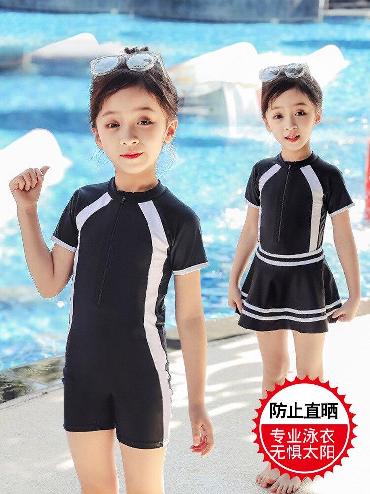 KID'S Swimwear Women's Dress-Boxer Girls Swimwear Big Boy Sun-resistant KID'S Swimwear Parent And Child Swimwear