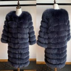 2019 Echte Vos Bontjas Vrouwen Natuurlijke Echt Bont Jassen Vest Winter Bovenkleding Vrouwen Kleding