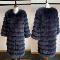 2019 Real Fox Fur Coat Women Natural Real Fur Jackets Vest Winter Outerwear Women Clothes