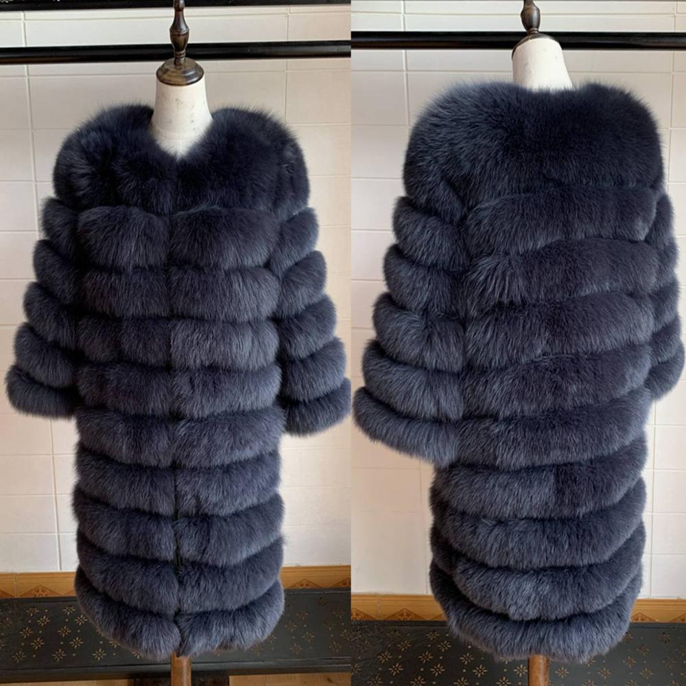 2019 réel manteau de fourrure de renard femmes naturel réel vestes de fourrure gilet vêtements de sortie d'hiver femmes vêtements