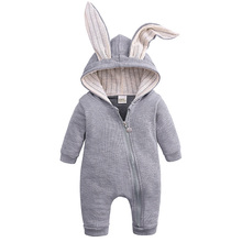 Baby Boy Girl Rompers Clothes for Newborn Infant Toddler Rabbit Cotton Overalls Jumpsuit Spring Autumn Hood Costume 0 18 Months