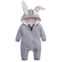 Baby Jongen Meisje Rompertjes Kleding Voor Pasgeboren Baby Peuter Konijn Katoen Overalls Jumpsuit Lente Herfst Hood Kostuum 0 18 maanden