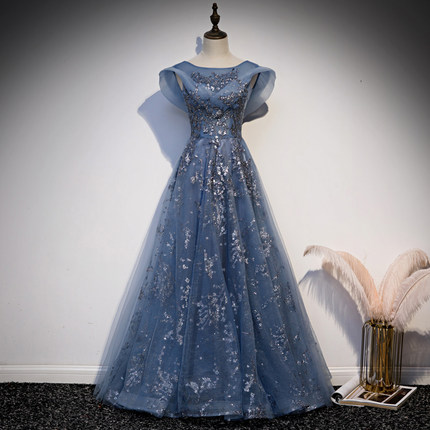medieval princess blue gown