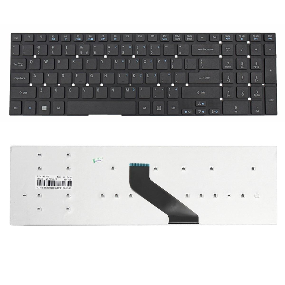 Black Key Board US English Laptop Keyboard For Acer Aspire E5-511,E5-511G,E5-571,E5-571G Series