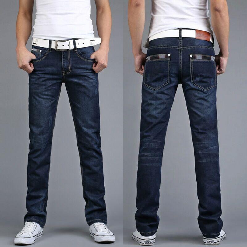 Men'S Wear Black Jeans Men's Straight Slim Men's Trousers Korean-style Trend Trousers Slim Fit MEN'S Pants
