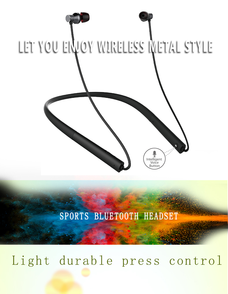SUICEN Tele Soft Neckband Wireless Business hands free BT Headset with micro hole