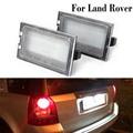 2 Pcs LED 12V Auto Kennzeichen Licht Für Land Rover Discovery 3 4 LR3 LR4 Freelander 2 LR2 range Rover Sport Auto Anzahl Lampe