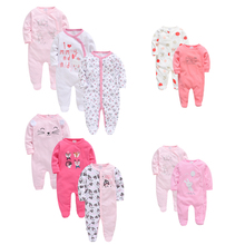 3pcs 2pcs/set Baby Girl Rompers Lovely Animal Cartoon Print