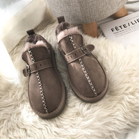 Snow Boots Womens Shoes With Fur Winter Warm Flats Ankle Botas Anti slip Female Sneakers Zapatos Mujer